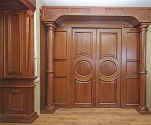 Фото - деревянные шумоизолирующие двери