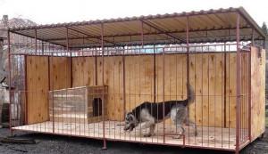 Фото - содержание собаки в вольере