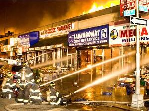 Фото - пожар в магазине