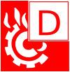 Символ пожара класса D