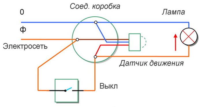 Фото - схема подключения датчика