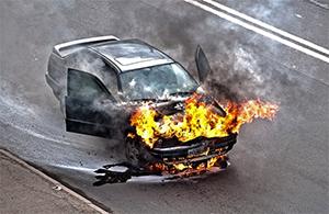 Фото - пожар в автомобиле